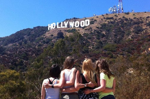 Hollywood-Schriftzug in Los Angeles, Kalifornien
